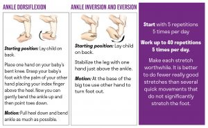 Clubfoot stretches