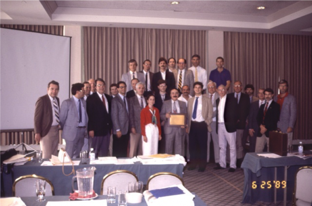 The first ASAMI meeting, 1989.