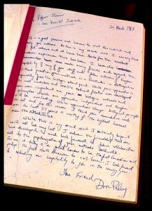 Paley's thankyou note to Ilizarov