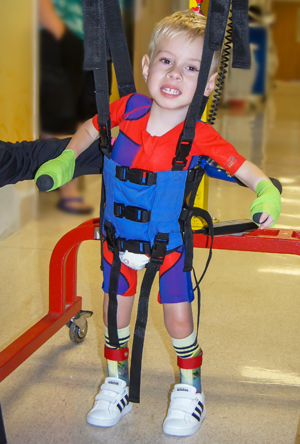 Patient Ryland walking in the lightgait