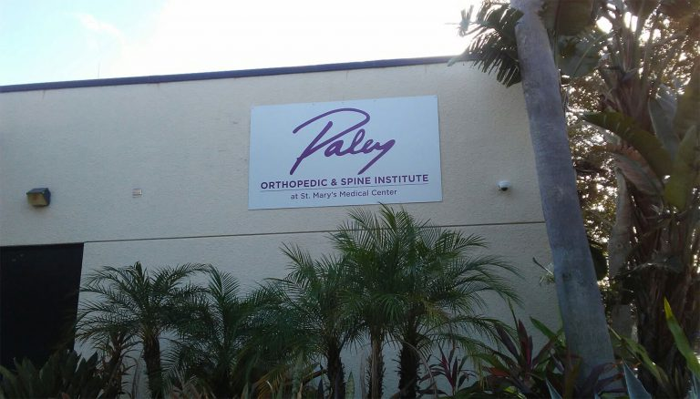 The Paley Institute located on the campus of St. Mary's Medical Center.