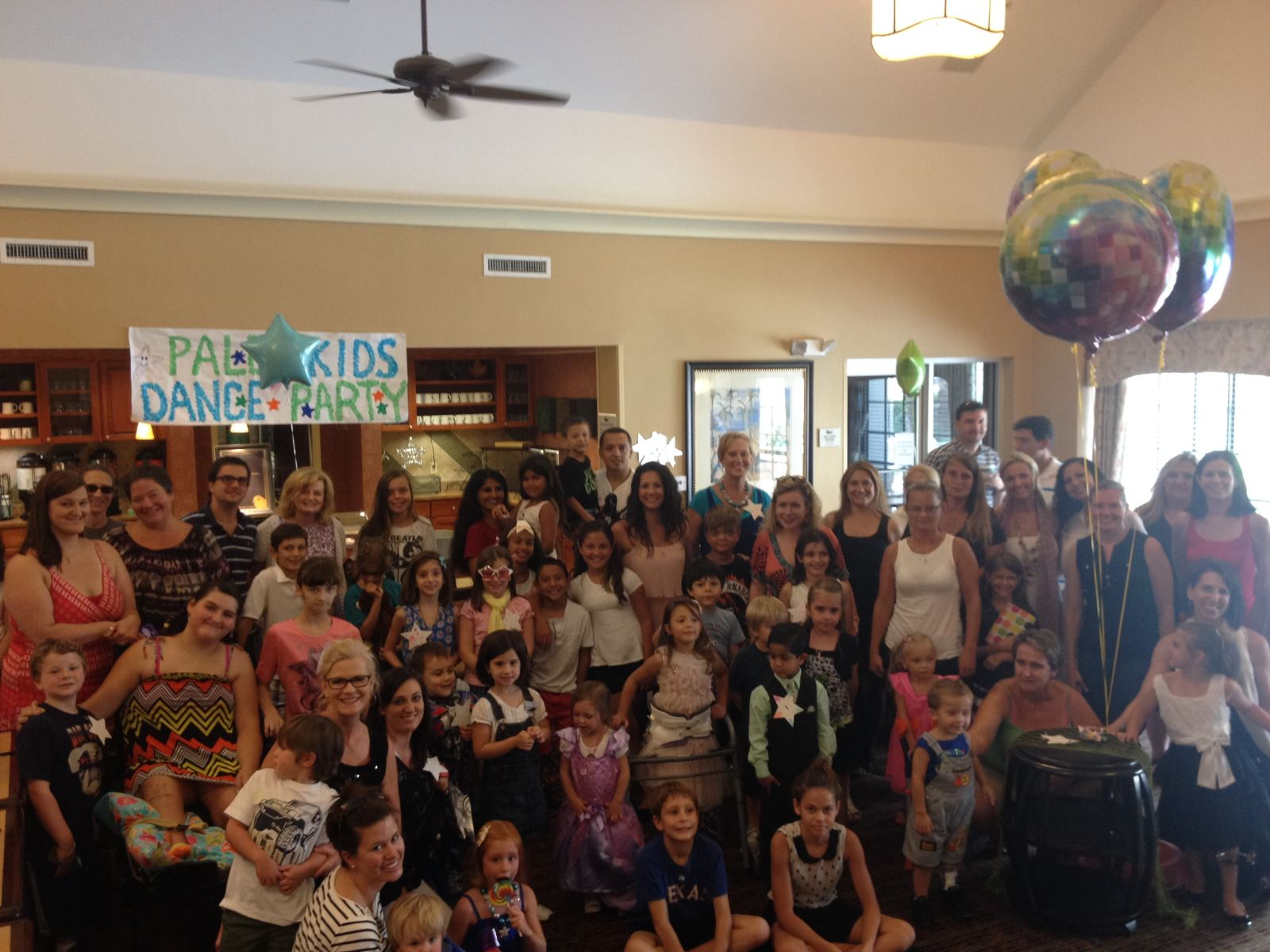 Patients and staff at the summer 2014 Dance Party.